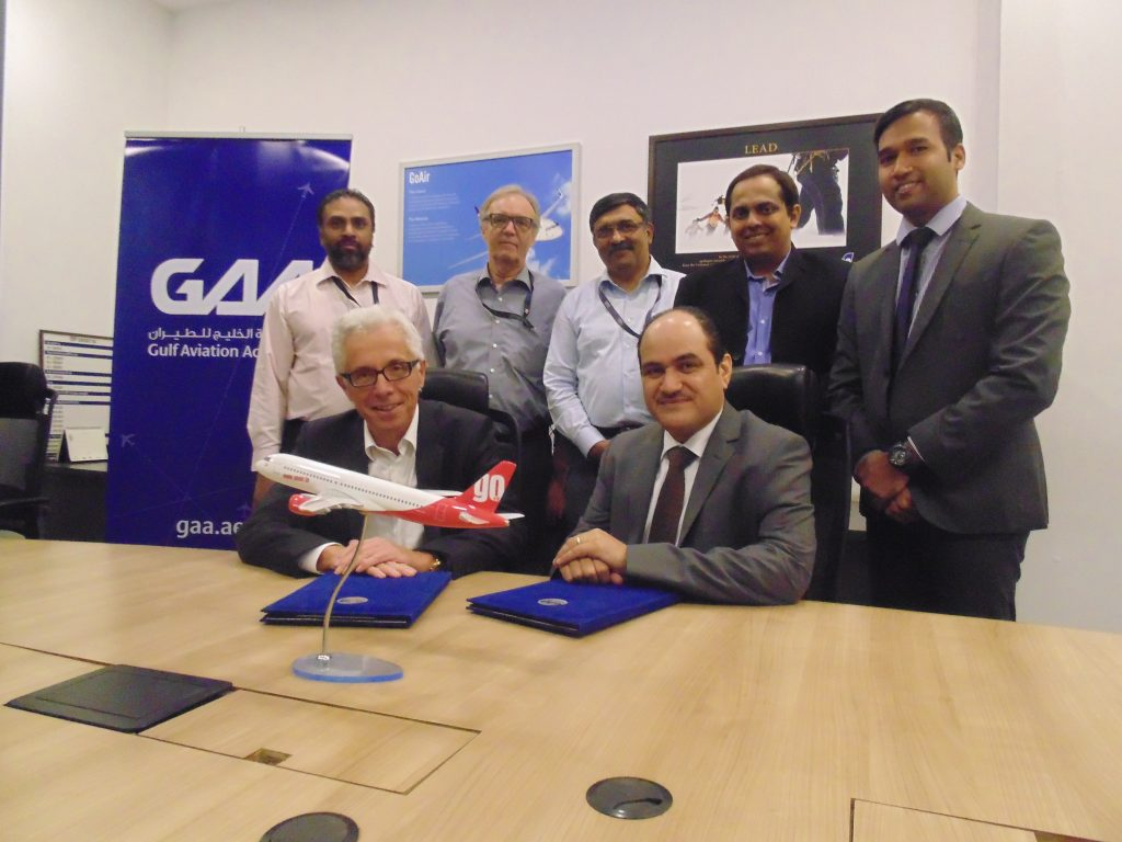 Gulf Aviation Academy and Go Air Sign a long Term Training Agreement